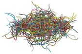 纠缠不清的电缆 — 图库照片