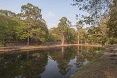 Ancient pool near Angkor temples. Cambodia — Stock Photo