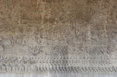 Stone engraving at Angkor Wat Temple near Siem Reap, Cambodia — Foto Stock