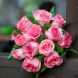 Stock Photo: Beautiful bouquet of roses