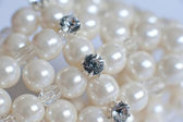 Decoration of white pearls — Stock Photo