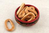 Donut rollte in der cup-sortiment — Stockfoto