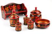 Khokhloma. Set of kitchen utensils — Stock Photo