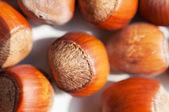 Hazelnuts close up. — Stock Photo