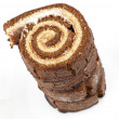 Stack of Swiss roll - Stock Photo