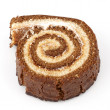 Chocolate swiss roll - Stockfoto