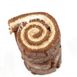 Stack of Swiss roll - Stockfoto