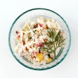 Salad with sprig of dill in glass cup — Stock Photo #18490311