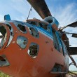 Stock Photo: Destroyed Soviet helicopter