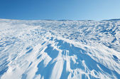 Snow waves in slope — Stock Photo
