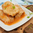 Stuffed Cabbage Roll with Vegetables - Stock Photo