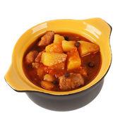 Pot of stewed potatoes. — Stock Photo