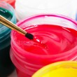 Brush and paint jar — Stock Photo #25599357