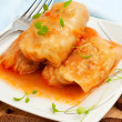 Cabbage rolls on white plate — Stock Photo #25599703