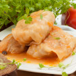 Cabbage rolls on white plate — Stock Photo #25600111