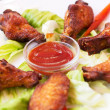 Grilled Chicken Wings with Red Spicy Sauce — Stock Photo #31984309