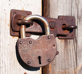 Old and rusty padlock. — Stock Photo