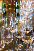 Wine glasses on the table. — Stock Photo