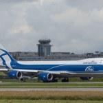 Постер, плакат: Boeing 747 8F cargo jet aircraft