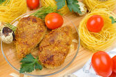 Chopped chicken cutlets. — Stock Photo