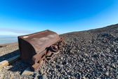 Abandoned mine trolley. — Stock Photo