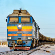Freight train in the far north. Norilsk. — Stock Photo #42822119