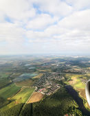 Moscow region. View from the airplane. — Stock Photo