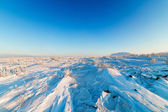 Snow-covered plateau — Stock Photo