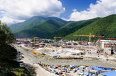 Construction site in the mountains. — Stock Photo