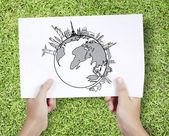 Drawing World — Stock Photo