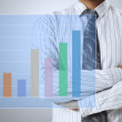 Show a graph — Stock Photo #13566254