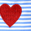 Fabric Red Hearts — Stockfoto
