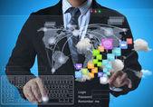 структура социальной сети — Стоковое фото
