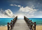 黑板tropiskt landskap — Stockfoto