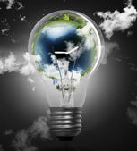 Myšlenka, žárovka — Stock fotografie