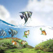 Fish jumping - Stock Photo