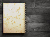 Book blank on old wood — Stock Photo
