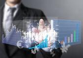 Símbolos financieros procedentes de mano — Foto de Stock