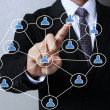 pushing social network structure  — Foto Stock