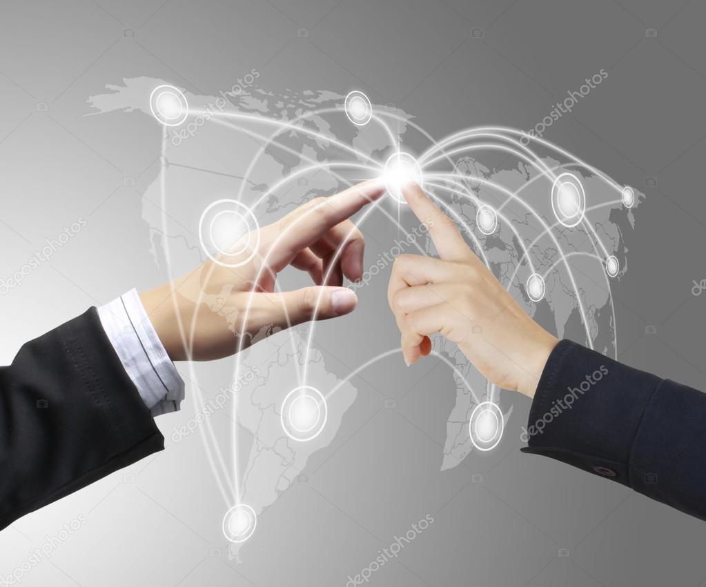 手推社会网络的结构