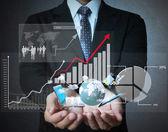Financiële symbolen uit hand — Stockfoto