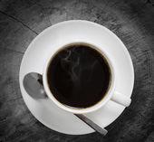 Coffee on a wood — Stockfoto