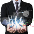 Stockfoto: Financial symbols coming from hand