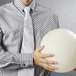 Stock Photo: Hand holding Crystal Ball