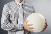 Hand holding Crystal Ball — Stock Photo