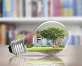 Light bulb Alternative energy concept — Stock Photo