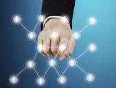 Estructura de la red social — Foto de Stock