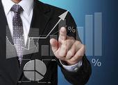 Simboli finanziari provenienti da mano — Foto Stock