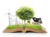 草和树自然书 — 图库照片