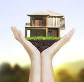 House model house concept in hand  — Stock Photo
